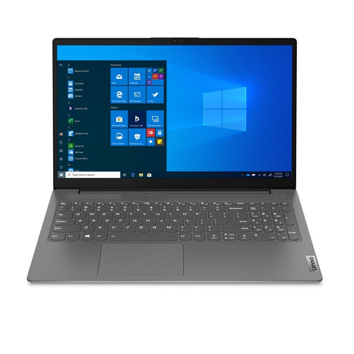 """Notebook - Lenovo 82me0000br I5-1135g7 2.40ghz 8gb 256gb Ssd Intel Iris Xe Graphics Windows 10 Professional V15 15,6"""" Polegadas"""
